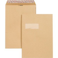 New Guardian Envelope Easy-Peel C4 Window 130gsm Manilla Pack of 250 F24203