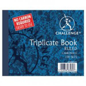 Challenge Carbonless Triplicate Book 105x130mm Ruled Feint 100080471