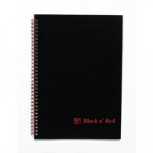 Black n Red Wirebound Premium Soft Cover Notebook A4 100 Pages Ruled Feint 846350152