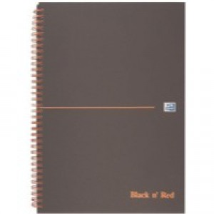 Oxford Black n Red A4+ Matt Wirebound Notebook Ruled Feint 846354905
