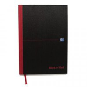 Black n Red Casebound Manuscript/Sketch Book 192 Pages A4 Plain 100080489