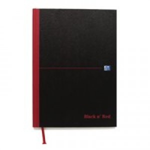 Black n Red Casebound Manuscript Book 192 Pages A4 Single Cash 100080537