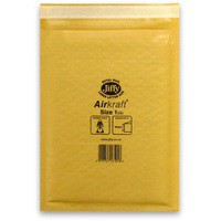 Jiffy AirKraft Bag Size 1 Gold Multi Pack of 10 MMUL04603