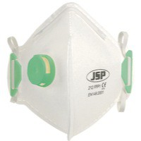 JSP Fold Flat Disposable Vertical Mask FFP1 212 Valved White BEB110-101-000