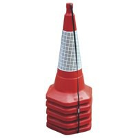 JSP Safety Cone Standard One-piece H750mm with Sealbrite Sleeve