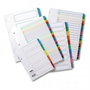 Concord Index A4 January-December White with Multi-Colour Tabs 02401/CS24
