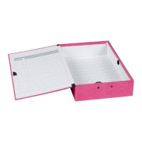Image for Concord Contrast Foolscap Laminated Box File Raspberry 13483
