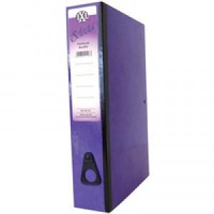 Concord IXL Selecta Box File Foolscap Purple 264187