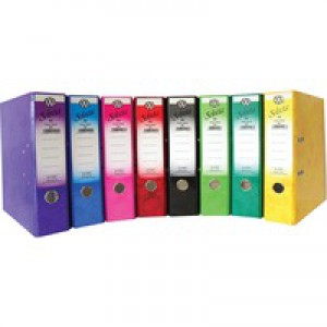 Concord IXL Selecta Lever Arch File A4 Assorted Pack of 10 162299