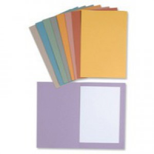 Guildhall 270gsm Square Cut Folder Medium-Weight Foolscap Orange 43206