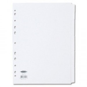Concord Subject Divider A4 5-Part White 79901