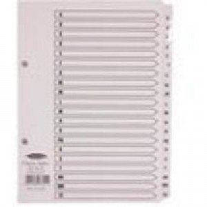 Concord Classic Index Mylar-reinforced Punched 2 Holes A-Z 20-Part A5 White Ref 07301/CS73