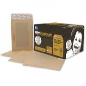 New Guardian Envelopes Heavyweight Board-backed Peel and Seal Manilla C3 [Pack 50]