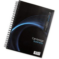Cambridge Notebook Wirebound Punched 4 Holes 90gsm Ruled and Margin 320pp A4 Ref 100080518 [Pack 3]