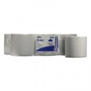 Wypall Wipers Centre Feed Roll 1-Ply White Pack of 6 7266