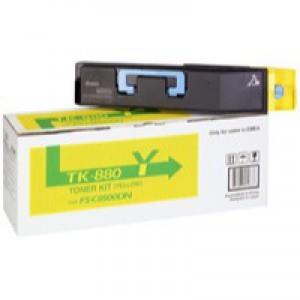 Kyocera FS-C8500DN Toner Cartridge 18K Yellow TK-880Y