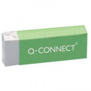 Q-Connect Eraser White PVC