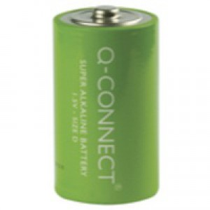 Q-Connect Battery D Pack of 2 KF00491