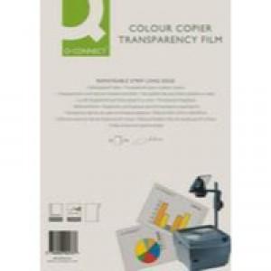 Q-Connect Laser Copier Film Colour A4 Pk 50 KF00533