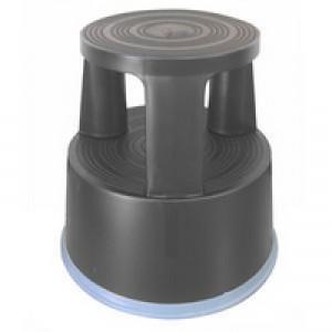 Q Connect Plastic Step Stool Dark Grey KF00634
