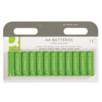 Q-Connect Battery AA Pack of 12