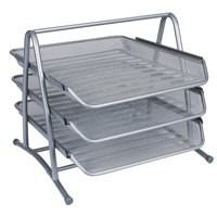 Q-Connect 3-Tier Letter Tray Silver