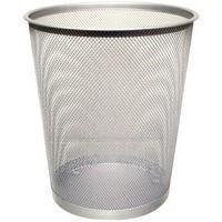Q-Connect Waste Basket Mesh Silver