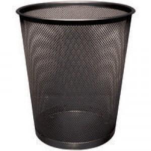 Q-Connect Waste Basket Mesh Black KF00871