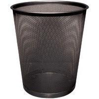Q-Connect Waste Basket Mesh Black