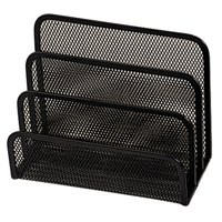 Q-Connect Mesh Letter Sorter Black