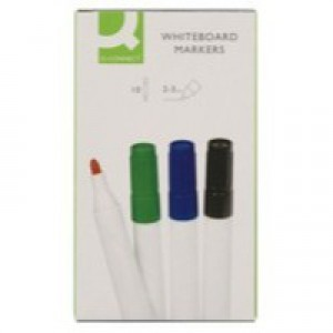 Q-Connect Dry Wipe Marker Assorted Pack of 10 KF00880