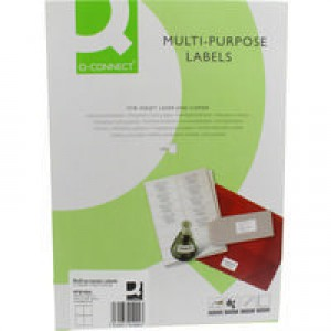 Q-Connect Label 105x148mm 4 per A4 Sheet White Pack of 100