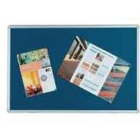 Q-Connect Notice Board 1800x1200mm Aluminium Frame Blue