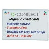 Q-Connect Magnetic Dry Wipe Board 900x600mm