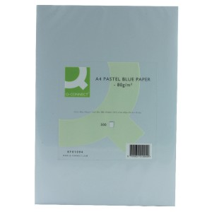 Q-Connect Coloured Copier Paper A4 80gsm Blue Ream