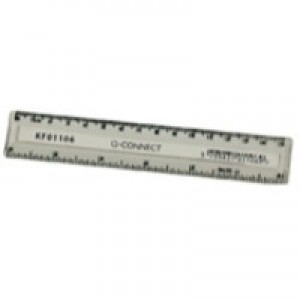 Q-Connect Ruler 150mm Clear