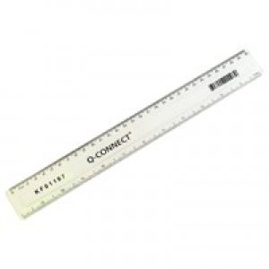 Q-Connect Ruler 300mm Clear KF01107Q