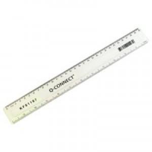 Q-Connect Ruler 300mm Clear KF01107Q