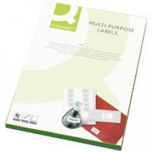 Q-Connect Multi-Purpose Label 70x37mm Butt Cut 24 per A4 Sheet Pack of 100 White