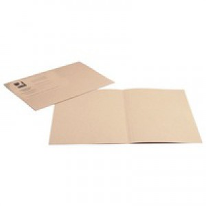 Q-Connect Square Cut Folder Medium-weight 250gsm Foolscap Buff