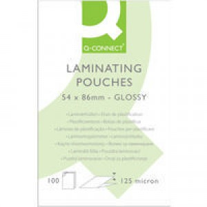 Q-Connect Laminating Pouch 54x86mm 125micron Pack of 100 KF01203