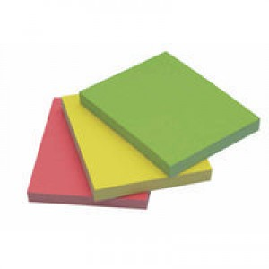 Q-Connect Quick Note Repositionable Pad 40x50mm Assorted Neon