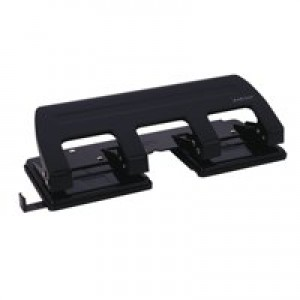 Q-Connect 4-Hole Punch Black