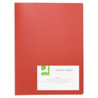Q-Connect Display Book 10-Pocket Red