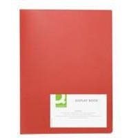Q-Connect Display Book 20 Pocket Red