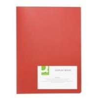 Q-Connect Display Book 40-Pocket Red