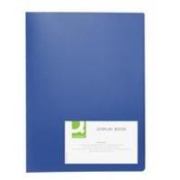 Q-Connect Display Book 40-Pocket Blue