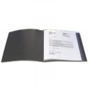 Q-Connect Presentation Display Book 100-Pocket Black