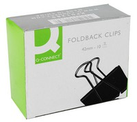 Q-Connect Foldback Clip 42mm Pack of 10