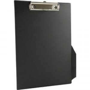 Q-Connect PVC Clipboard A4/Foolscap Black